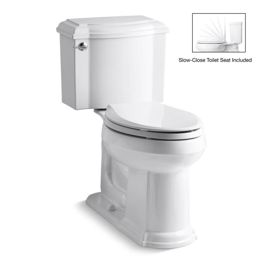 Kohler Devonshire White Watersense Labeled Elongated Chair Height
