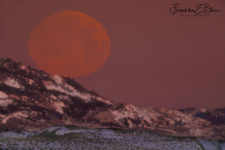 Descending Distorted April Moon on the Red Hills #dinosaurtattoos