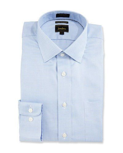 CoolMax® Check Dress Shirt, Blue