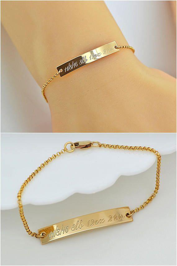 Mom Bracelet Personalized Bar Kids Name Gift For Custom