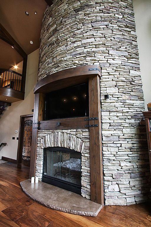 Country Great Room   Find More Amazing Designs On Zillow Digs! Rustikale  KamineInnenkamineFeuerstellen Aus SteinBadezimmer ... Photo Gallery