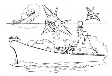 Atacking Battleship With Bombs Bee Coloring Pages Lego Coloring Pages Free Printable Coloring Pages