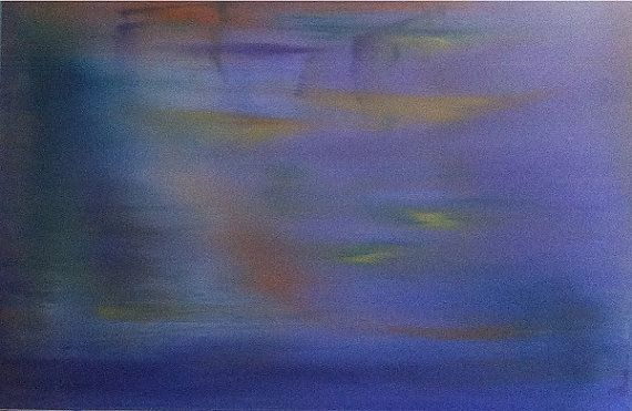 """Original Abstract Oil painting on Canvas  """"The Koi Pond"""""""