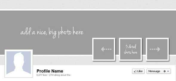 insert your own photos in the spaces provided in the template