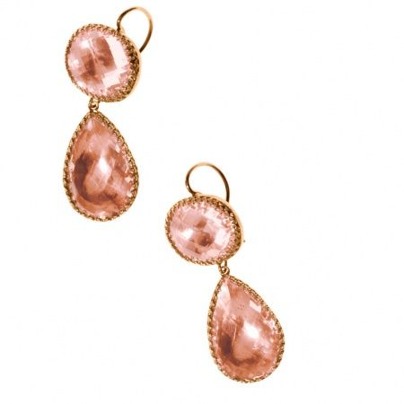 "Larkspur & Hawk ""Lily"" earrings with topaz (212-826-8900)."