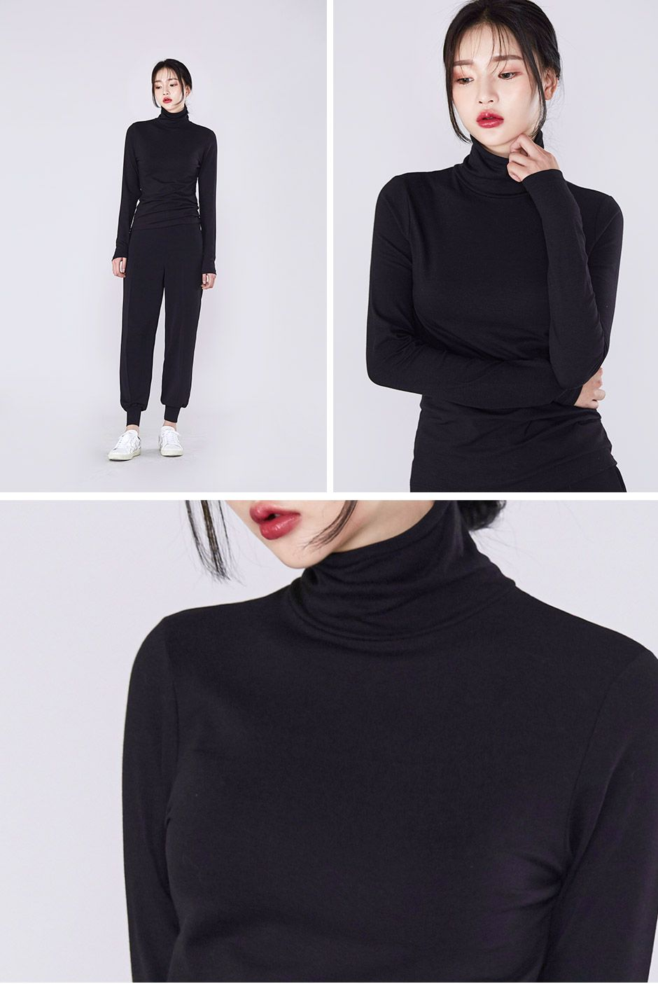 Turtle neck long sleeve i know you wanna kiss me thank you for