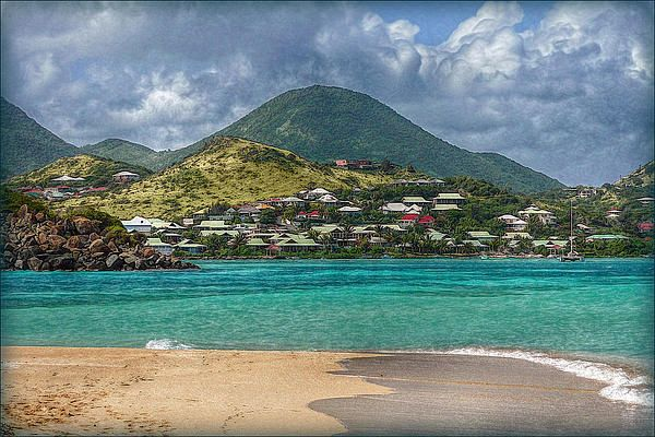 This is a Caribbean Dream Beach on st. Maarten Island perfect to snorkel and relax - Photograph by Hanny Heim #landscape