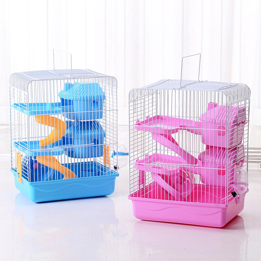 Jtengyao Hamster Mouse Hamster Cage Luxury Castle For Small Indoor Pet House Small Animal House Diy 3 Floor Cages Hamster Cage Small Pet Supplies Hamster House