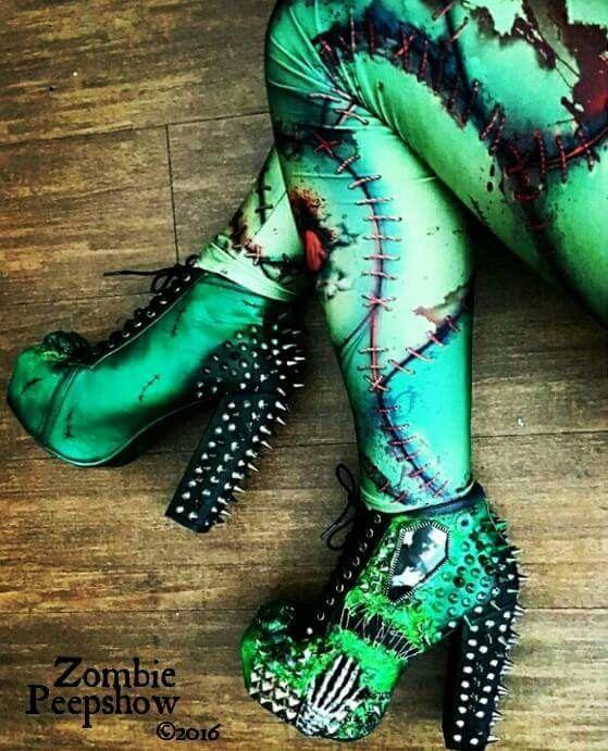 Frankenstein « il est vivant » dopés talons bottes plate-forme