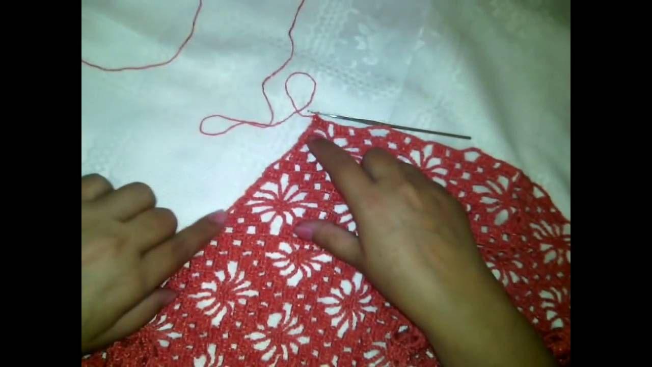 Como hacer una blusa de manga 3/4 en crochet paso a paso Quinta parte