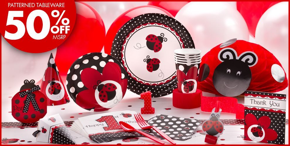 Fancy Ladybug 1st Birthday Party Supplies Birthday