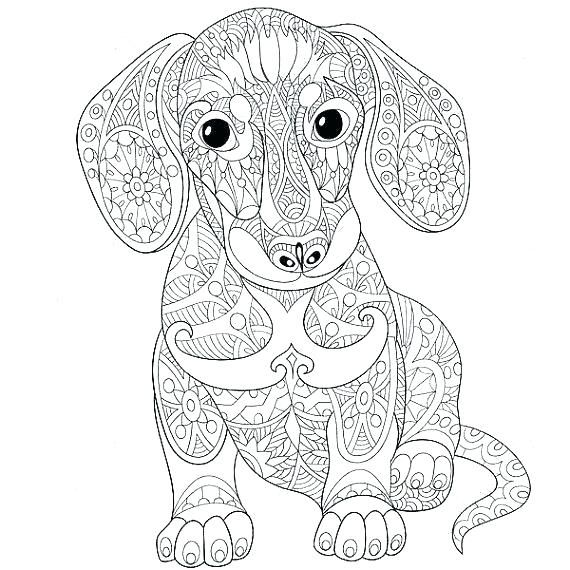 Colouring Pages Mandala Animals Animal Coloring Pages Online Animal Coloring Pages For Adults Sweet Lo Dog Coloring Page Dachshund Colors Animal Coloring Pages