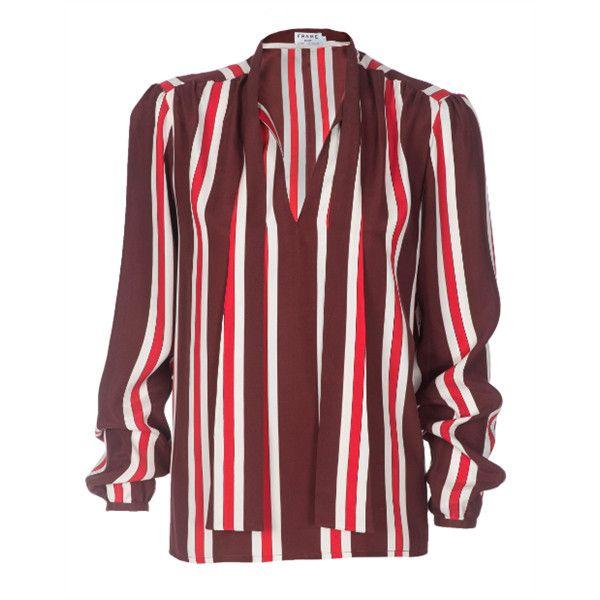 Striped Silk Shirt - Red Frame Denim Shop For Cheap Very Cheap Cheap Sale View MQYJbR4EKO