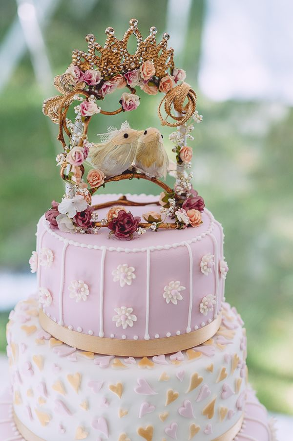 Pink & Gold Marie Antoinette Inspired Wedding | Cake, Wedding and ...
