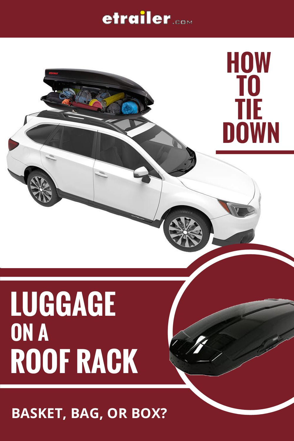 How To Tie Down Luggage On A Roof Rack Roof Rack Roof Rack Basket Luggage