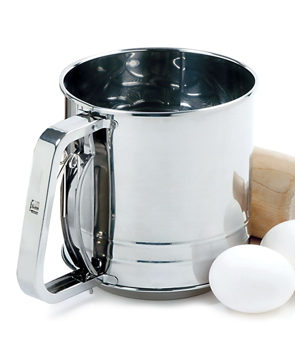 Three-Cup Stainless Steel Flour Sifter