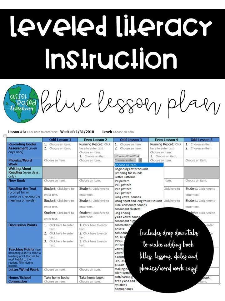 Lli Lesson Plan Template Blue Kit Lli Pinterest Lesson Plan