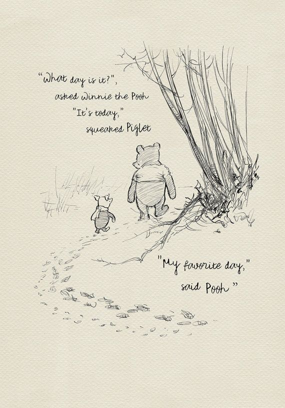 What Day Is It Winnie The Pooh Quotes Classic By