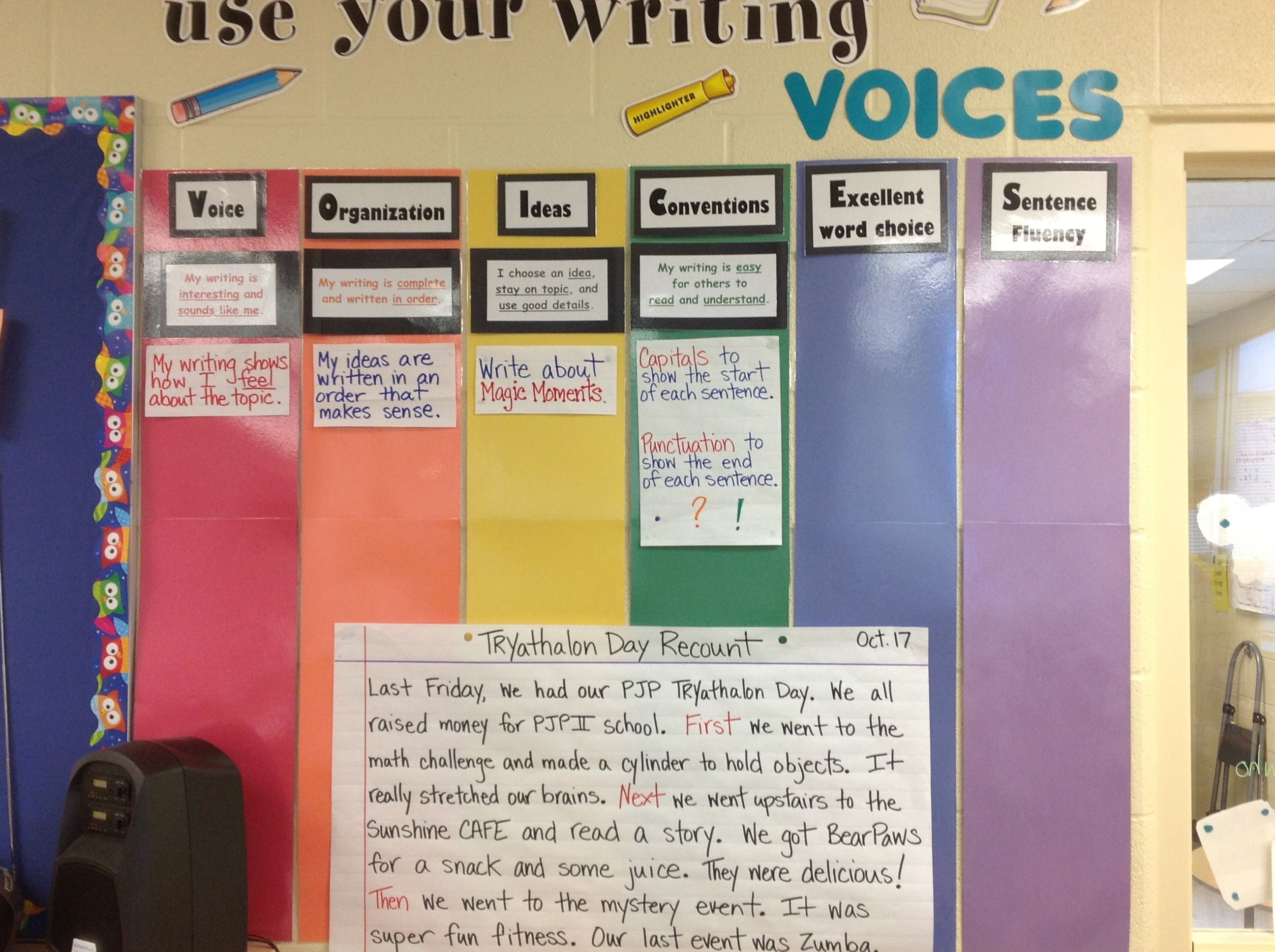 Writing Voices Board Love How This Ties Together Write