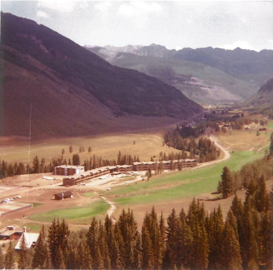 Manor Vail Lodge from Vail Mountain in the 1960's before it all began! #Vail