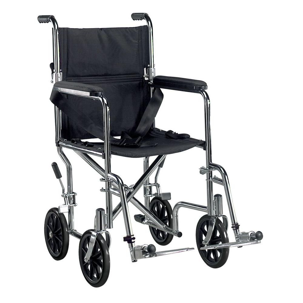 Drive Go Cart Transport Wheelchair with Swing Away Footrest and 19