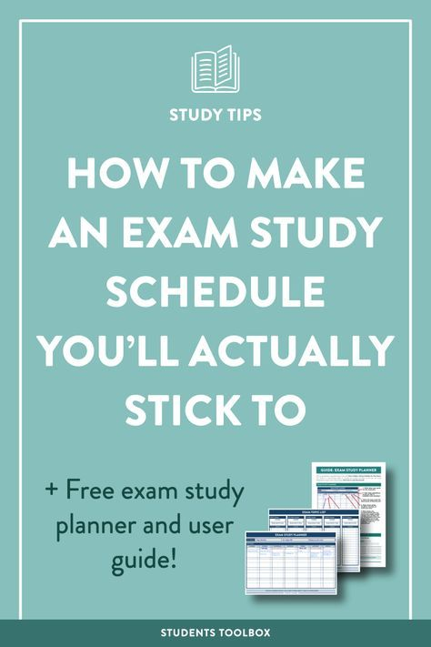 How to Make an Exam Study Schedule You\u0027ll Actually Stick To + Exam - exam study schedule template