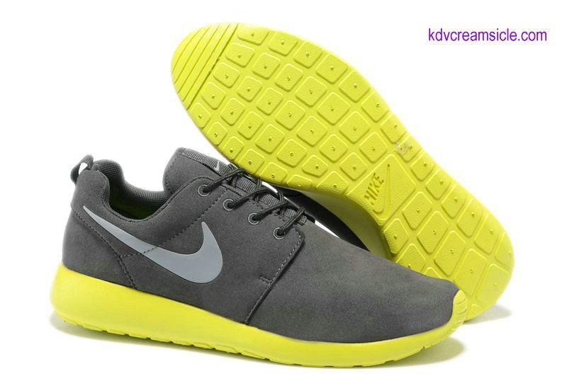1ba5f2c030fed Cheap Nike Roshe Run Buy Online Wolf Grey Volt Metallic Sliver 511881 003