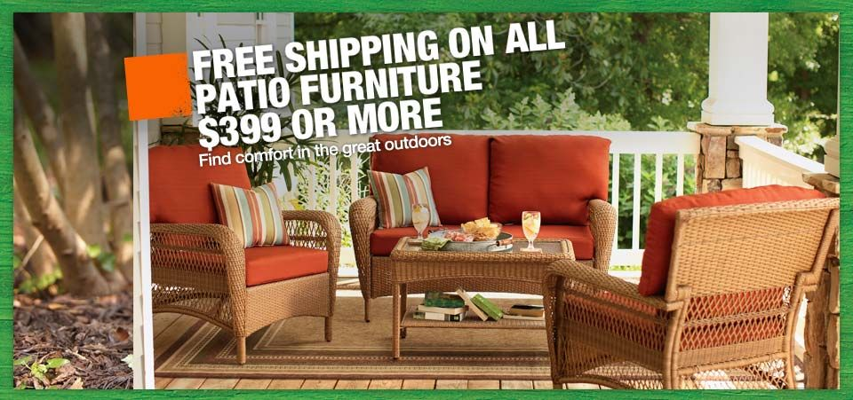 Home Depot Patio inspiration, Outdoor furniture sets, Patio