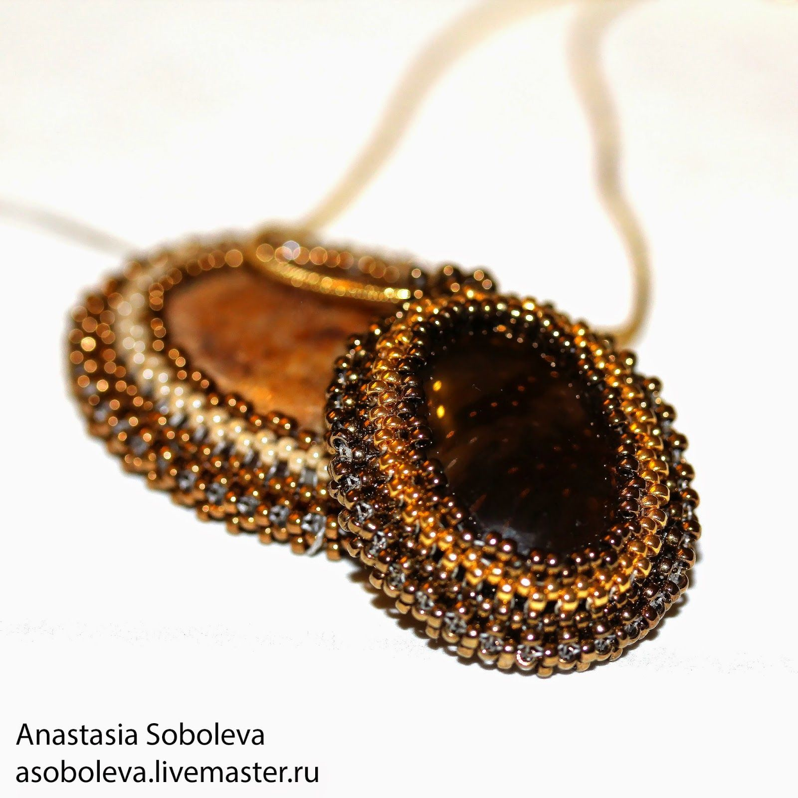 Оплетение кабошона на основе квадратного жгута - Ярмарка Мастеров - ручная работа, handmade