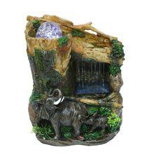 Casa decoração fonte de água sorte elefante ofícios de água em casa mobiliário decoração enfeites criativos bonsai umidificador(China (Mainland))