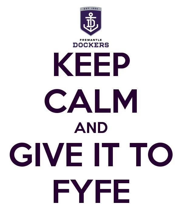 Hope We Don T Miss This Guy Too Much On Sunday Freo Calm