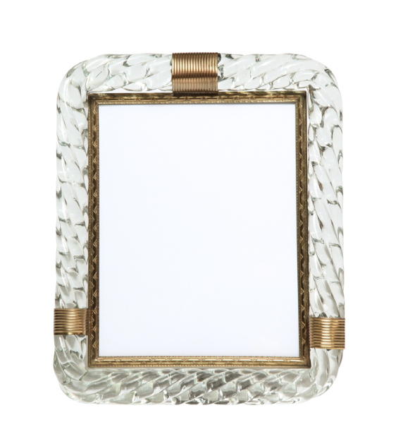Vintage Murano Gl Rope Picture Frame