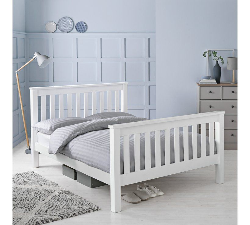 Buy Argos Home Maximus Double Bed Frame White Bed Frames