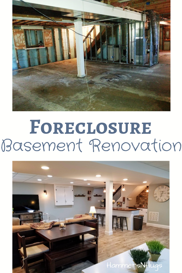 Colonial Foreclosure Basement Renovation | DIY Home