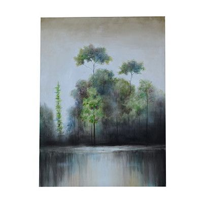 Crestview Haze Painting Print on Canvas