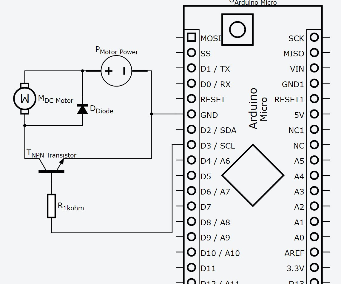 12v Motor Control With 5v Arduino And Npn Transistor As