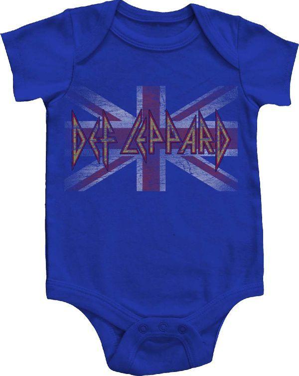 DEF LEPPARD Baby Clothes Newborn Romper Bodysuit One Piece Shirt 6 12 18 24 2t