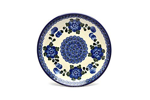 Burgundy Berry Green Polish Pottery Plate Salad Dessert 7 3 4 Logisticpross Com