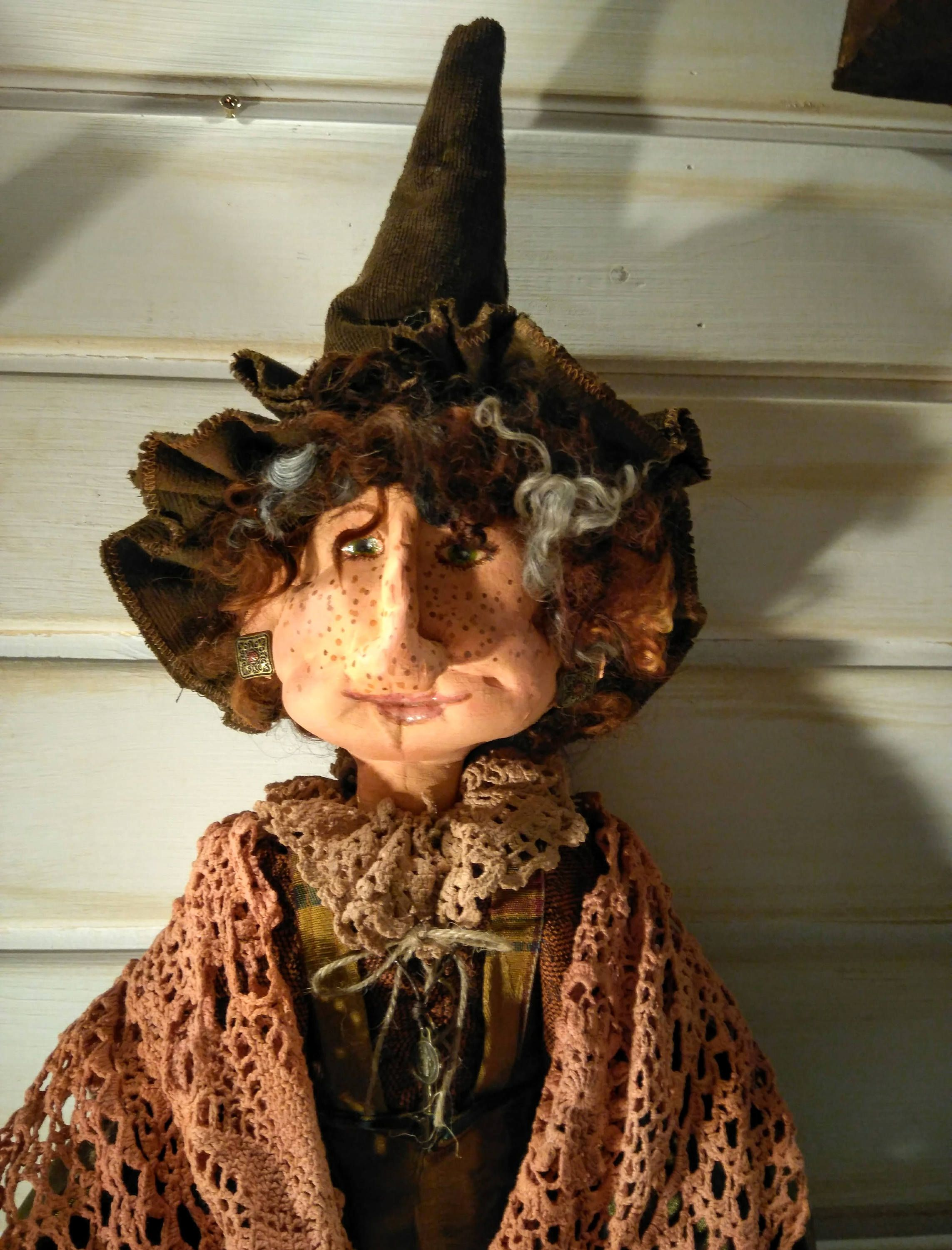 Primitive Witch - Handmade Doll - Primitive - Halloween Decor - Art
