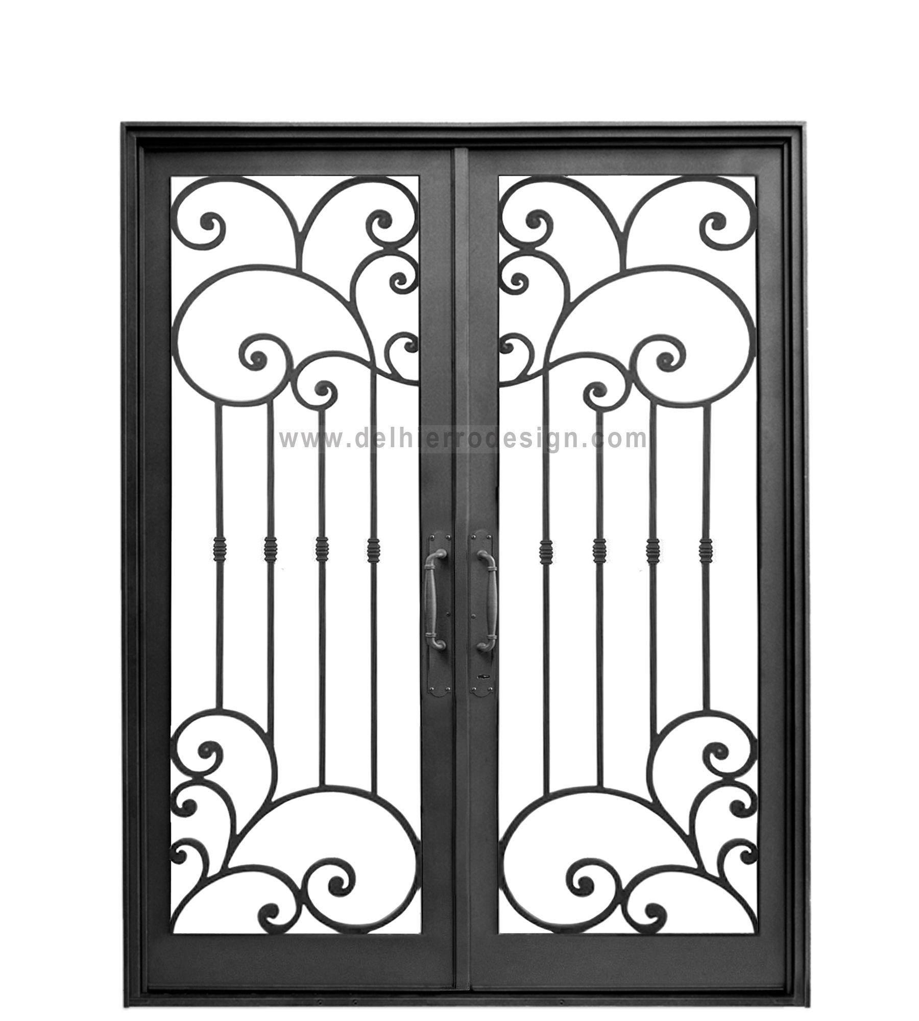 Puerta De Entrada De Hierro Forjado Codigo 1890 Diseno De Puerta De Hierro Puertas De Hierro Ventanas De Metal