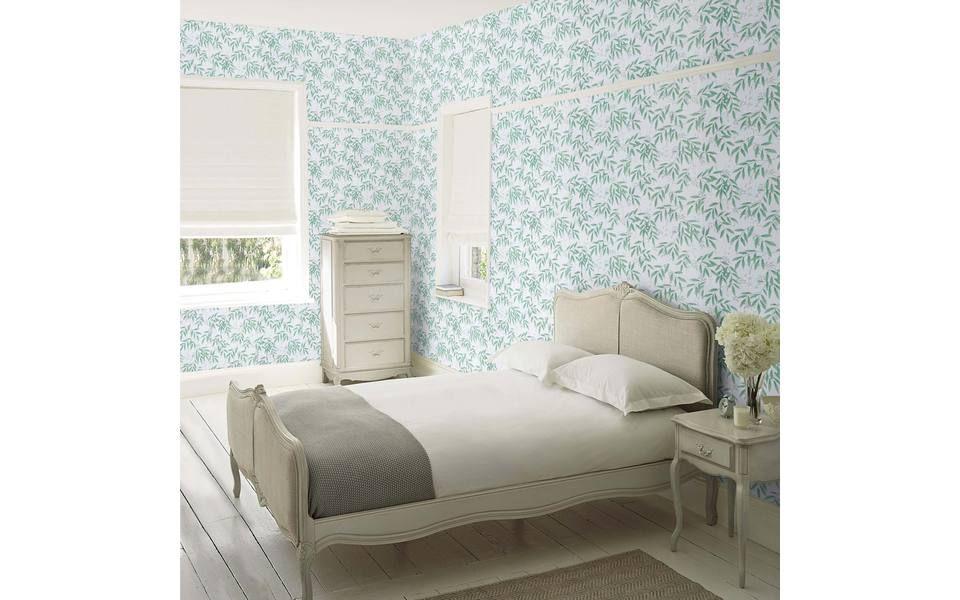 Greendale Silver Laura Ashley Wallpaper