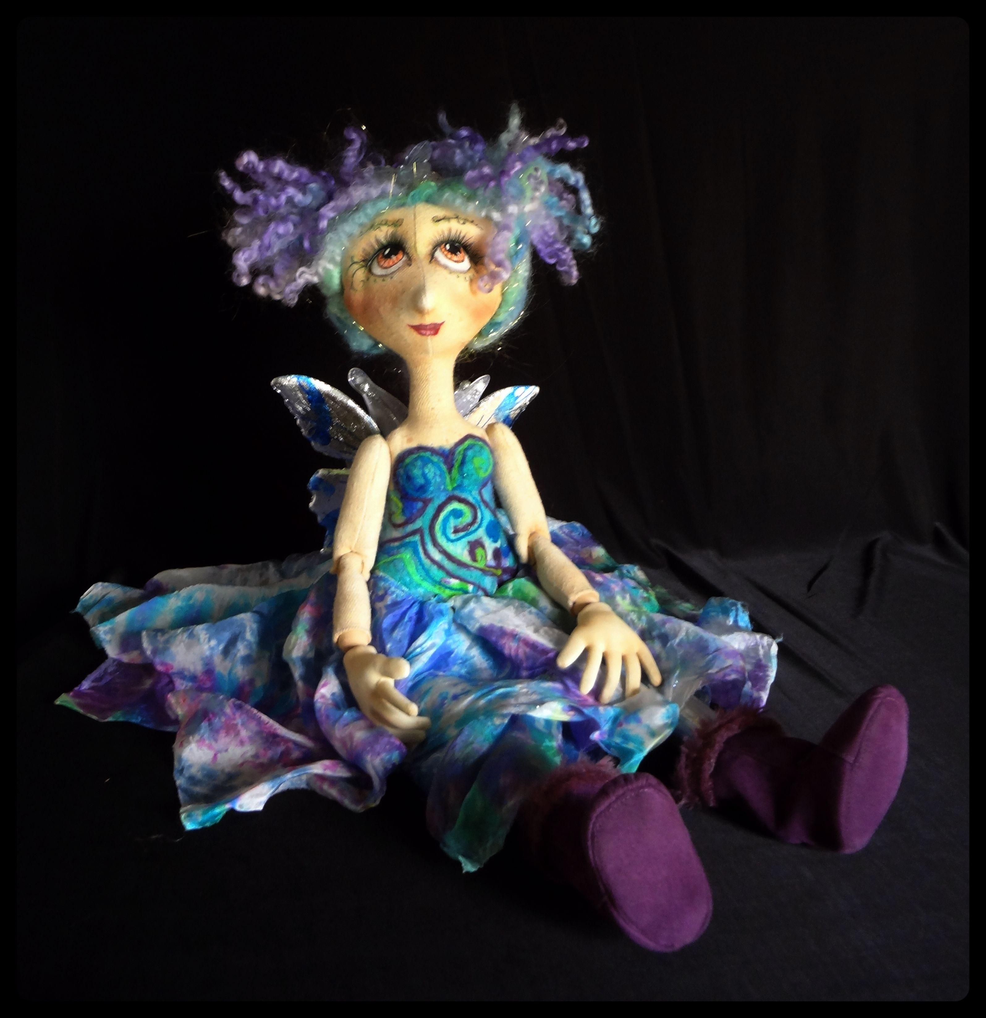 One of my newest little fairy dolls www.spilledpaint.com