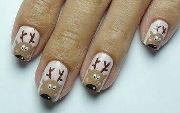 Cómo hacer diseño de renos navideño en las uñas ~ Belleza y Peinados