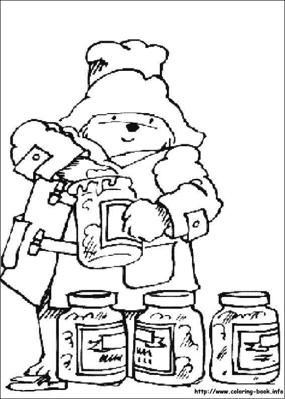 paddington bear coloring pages # 25