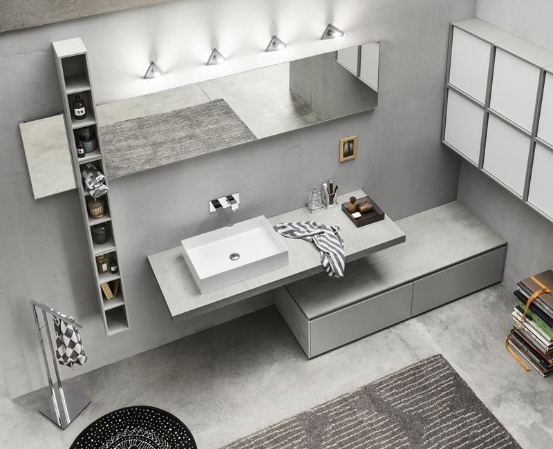 bagno grigio | Bagni nel 2019 | Bathroom Furniture, Bathroom e ...