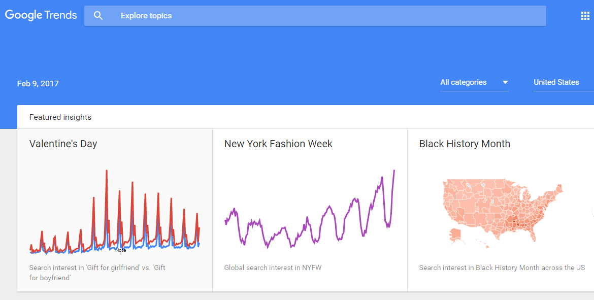 Google Trends Overview Google Trends Search Trends Valentines Day New York
