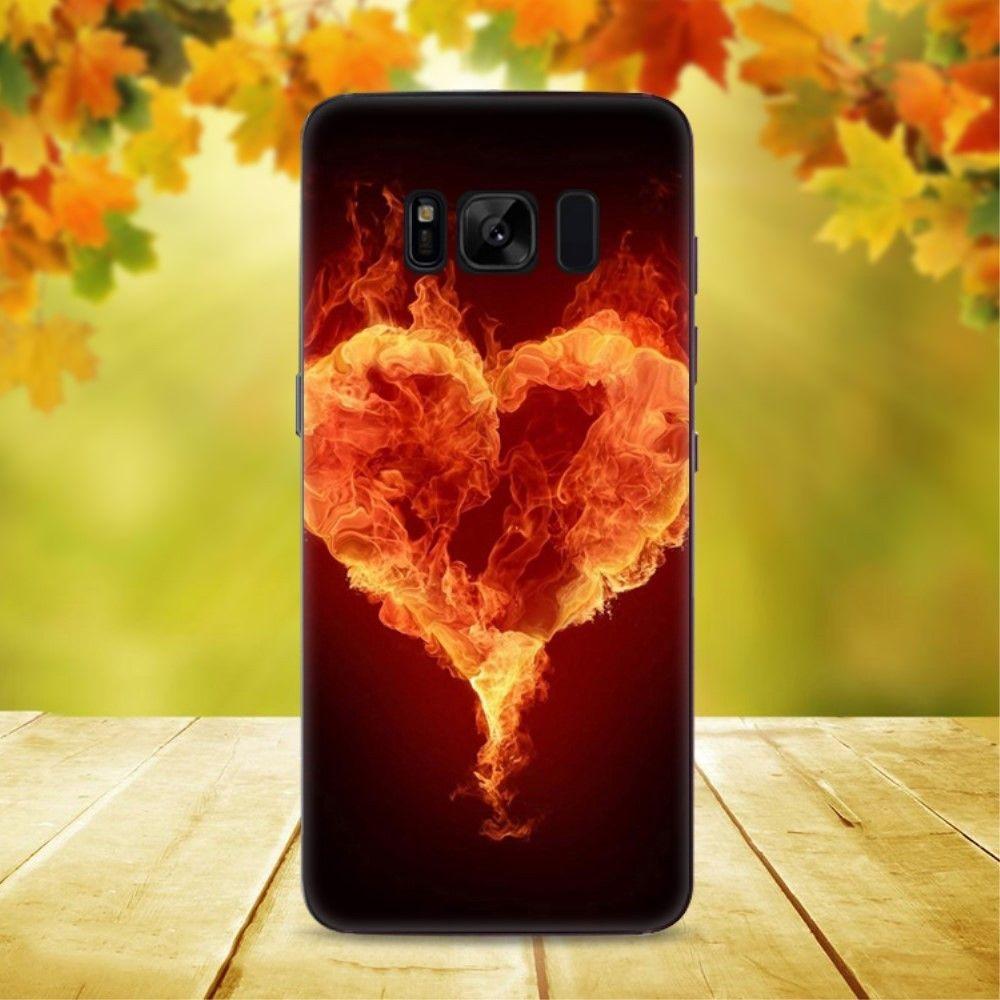 Coque Samsung Galaxy S8 Plus - Coeur Enflammé
