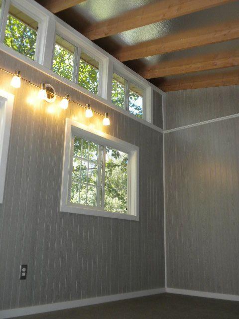 Slant Roof Style Inside View Of Customer Finished Slant
