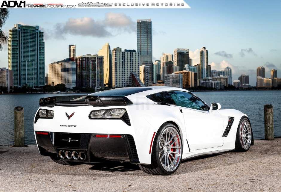 [PICS] Shock and Awe: Arctic White Corvette on Polished Aluminum Wheels