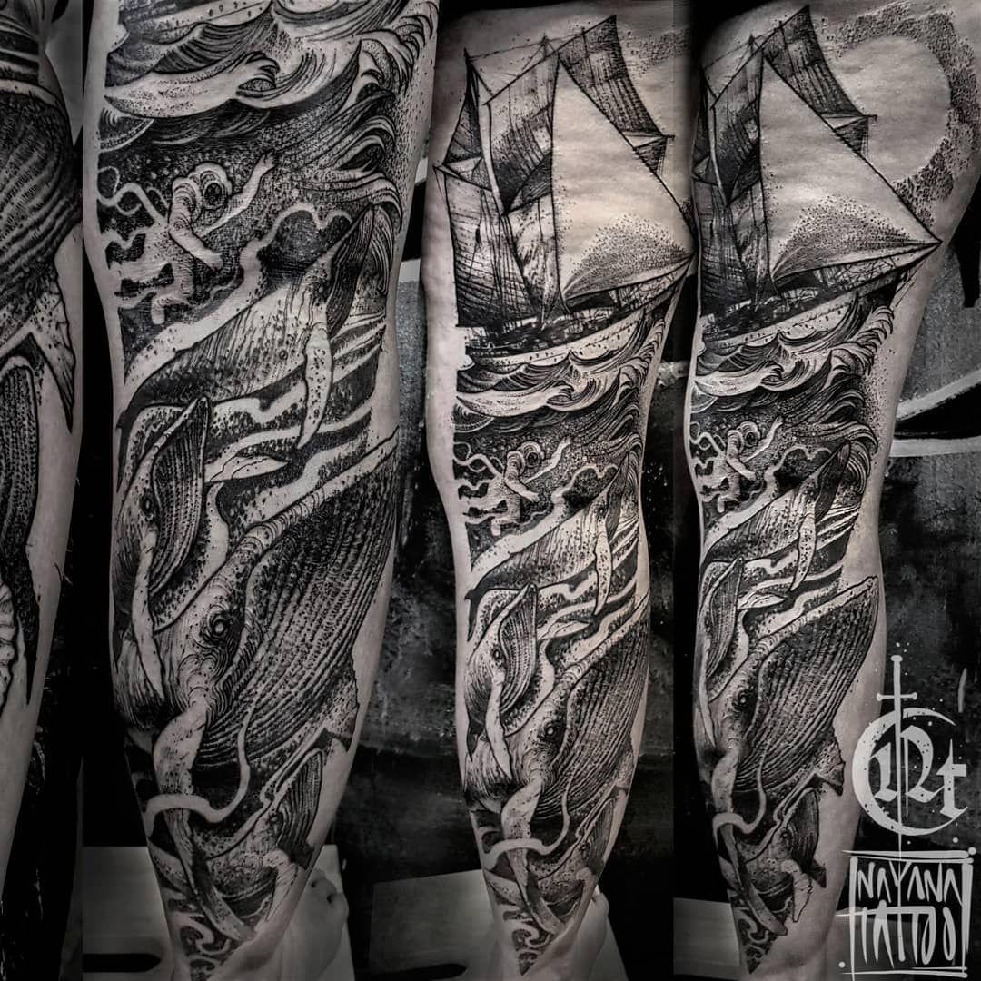 Marine still-life with whales.. 🌊 ♣Tattooed with @pirattattoomachines & @vladbladirons  #beforequarantine @blxckink #blkttt @blkttt #btattooing #blackwork @artof_black #artof_black #blackworkerssubmission #blackworkers_tattoo #illustrativetattoo #graphictattoo #TAOT #darkartists @darkartists #onlyblackart @onlyblackart #onlythedarkest @onlythedarkest #tttist #tttism #ttrx  #czechtattoo #praguetattoo @a_drop_of_black #a_drop_of_black @artesobscurae #artesobscurae